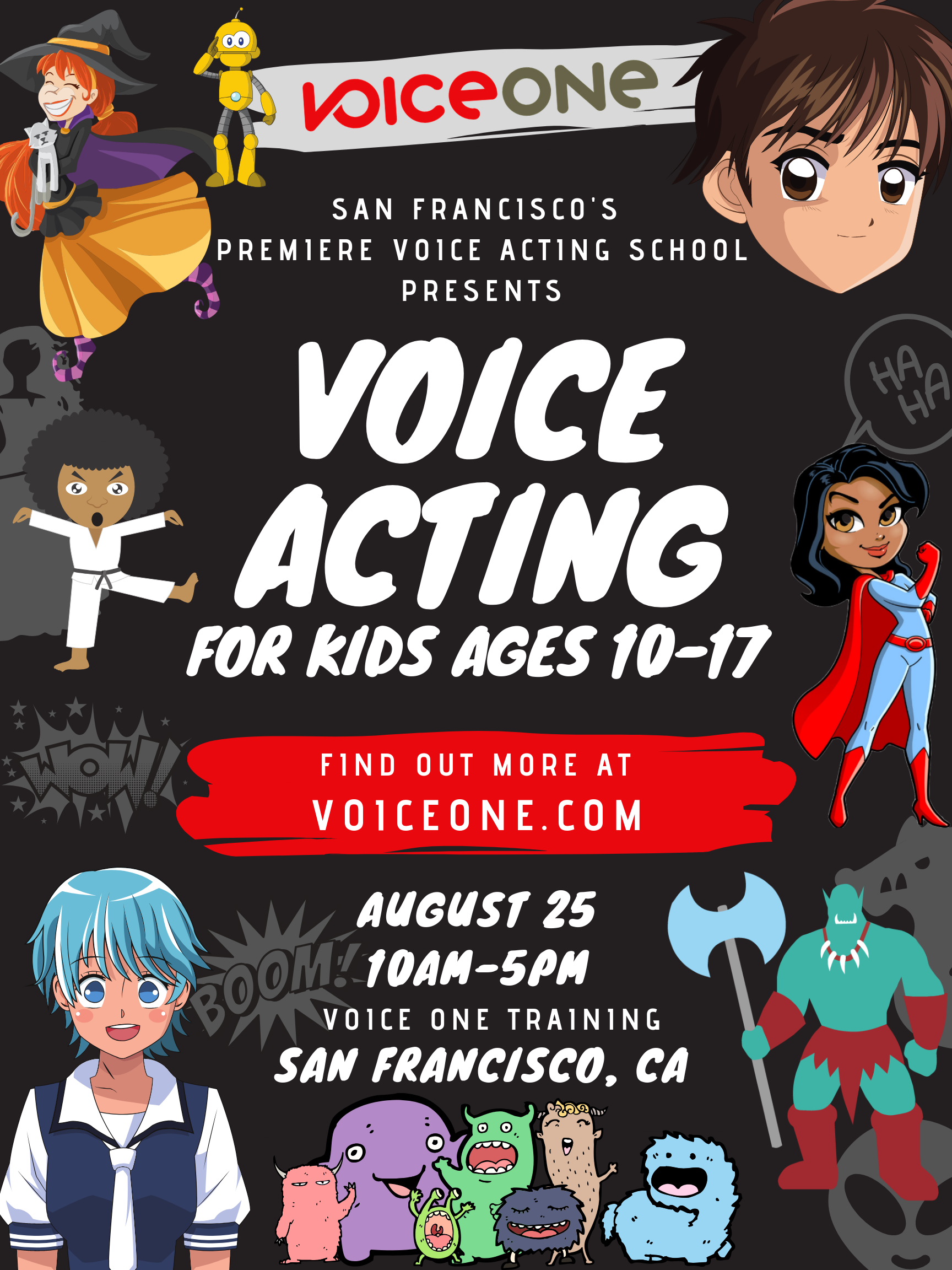 Voice Acting for Kids Ages 10-17