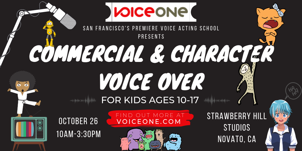 Commercial & Character VO for Kids (ages 10-17)