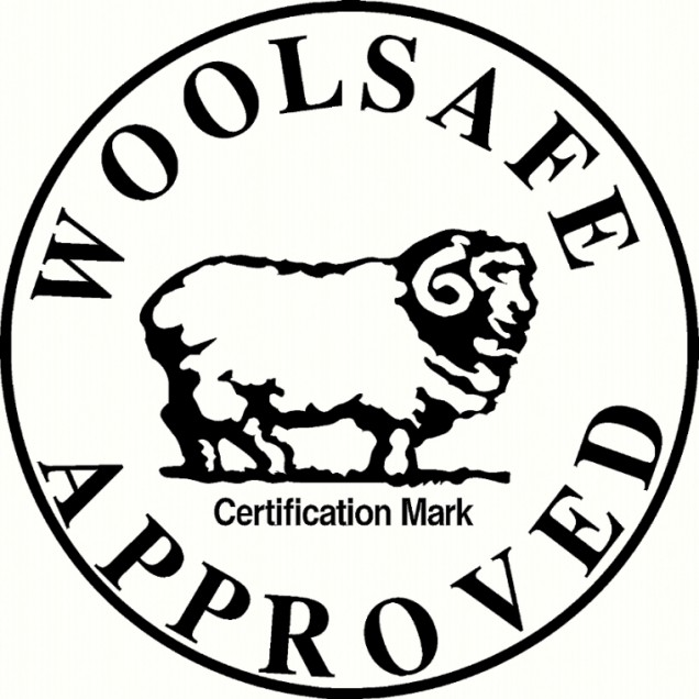 Woolsafe approved stamp
