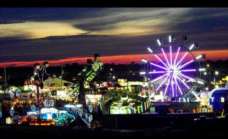 Carnival scenery at night time