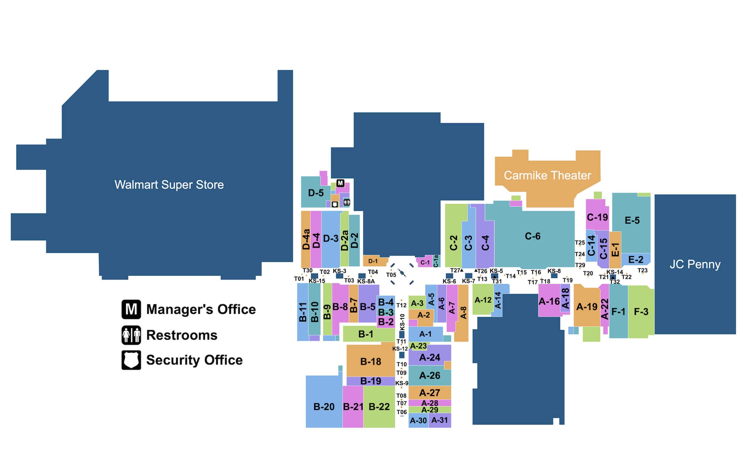 Fort Steuben Mall Map