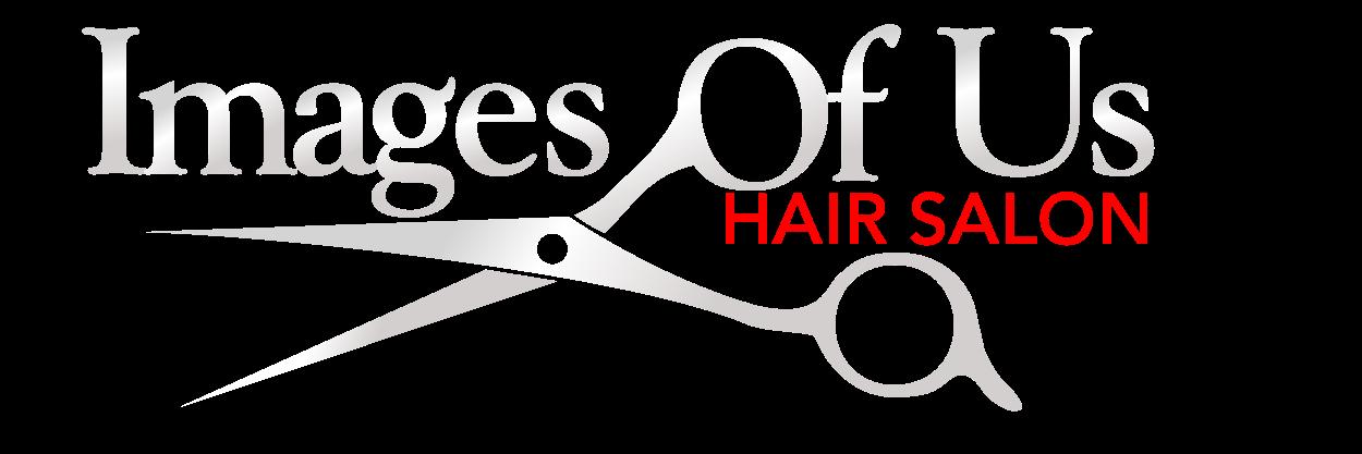 Images of Us Hair Salon white logo