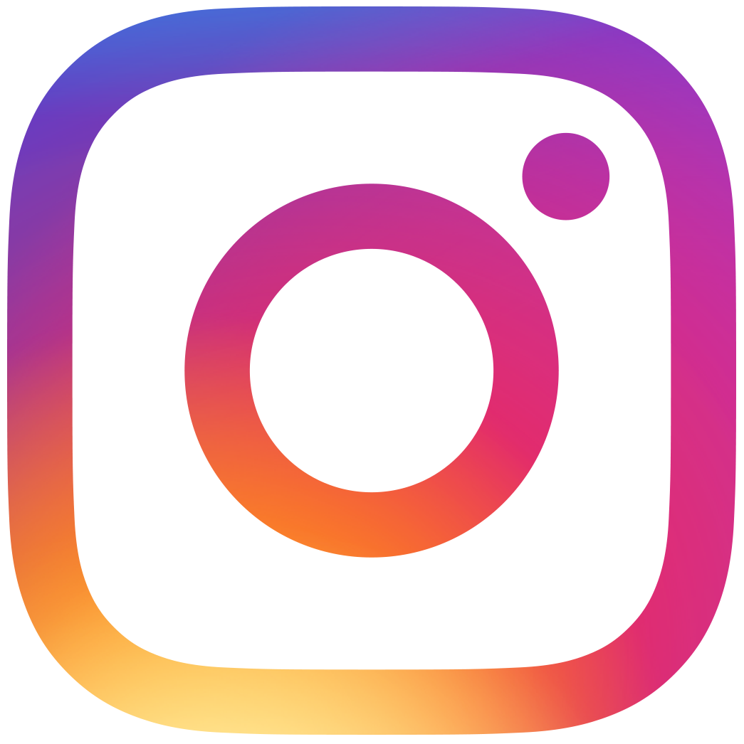 Colorful instagram logo with Images of Us Salon Instagram