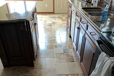 clean kitchen floor in a brunswick home