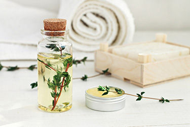 Thyme oil treatment for carpets