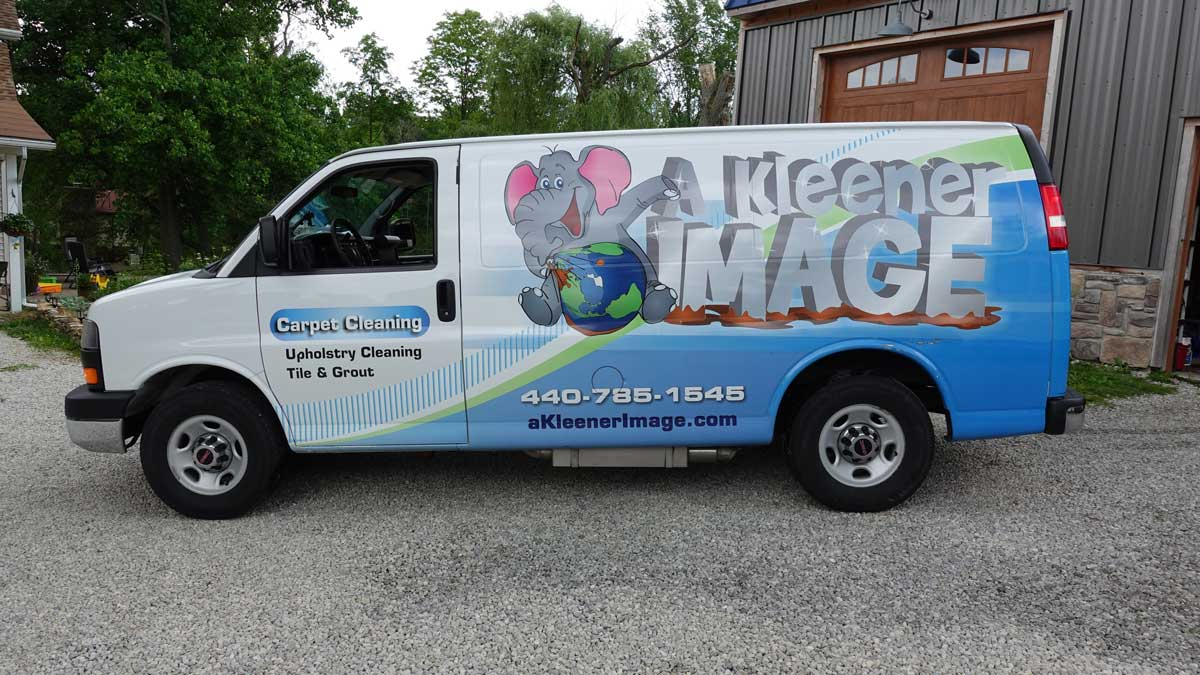 A Kleener Image Carpet Cleaning van