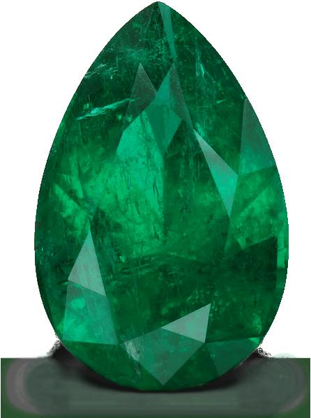 Panjshir Valley pear-shaped emerald