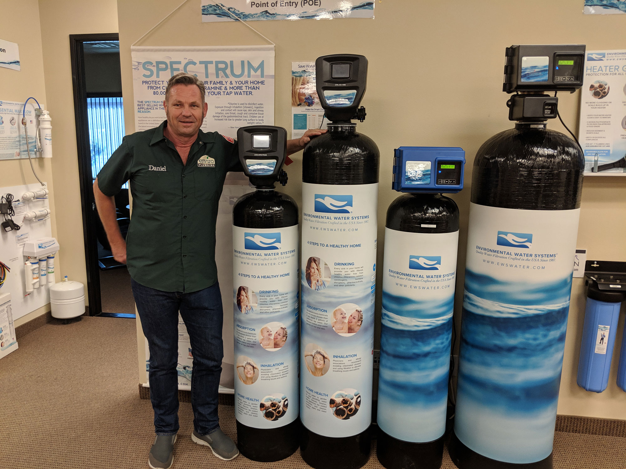 Daniel with Environmental Water Systems
