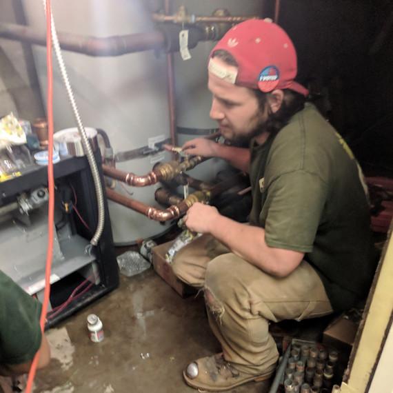 Member of Enviro Plumbing team at work