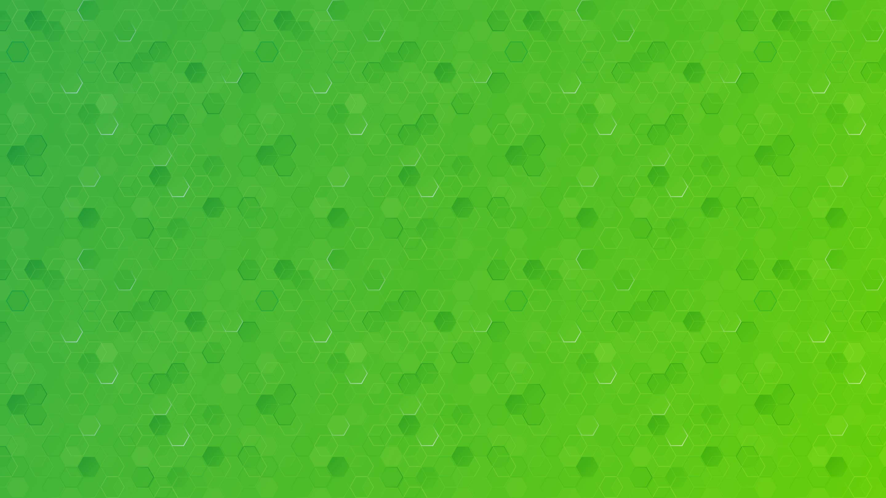 A green hexagon-patterned background.