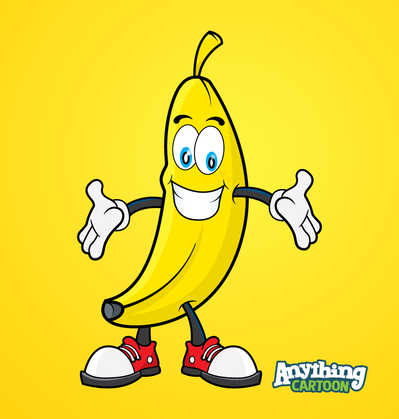 Free Banana Cartoon Clipart Download