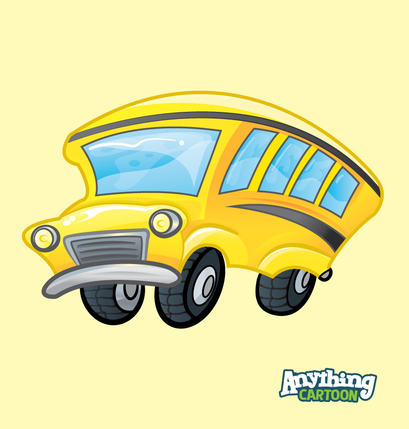 Free School Bus Cartoon Clipart