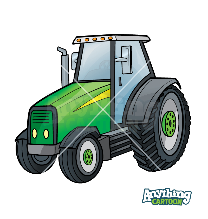 Cartoon Tractor Clipart