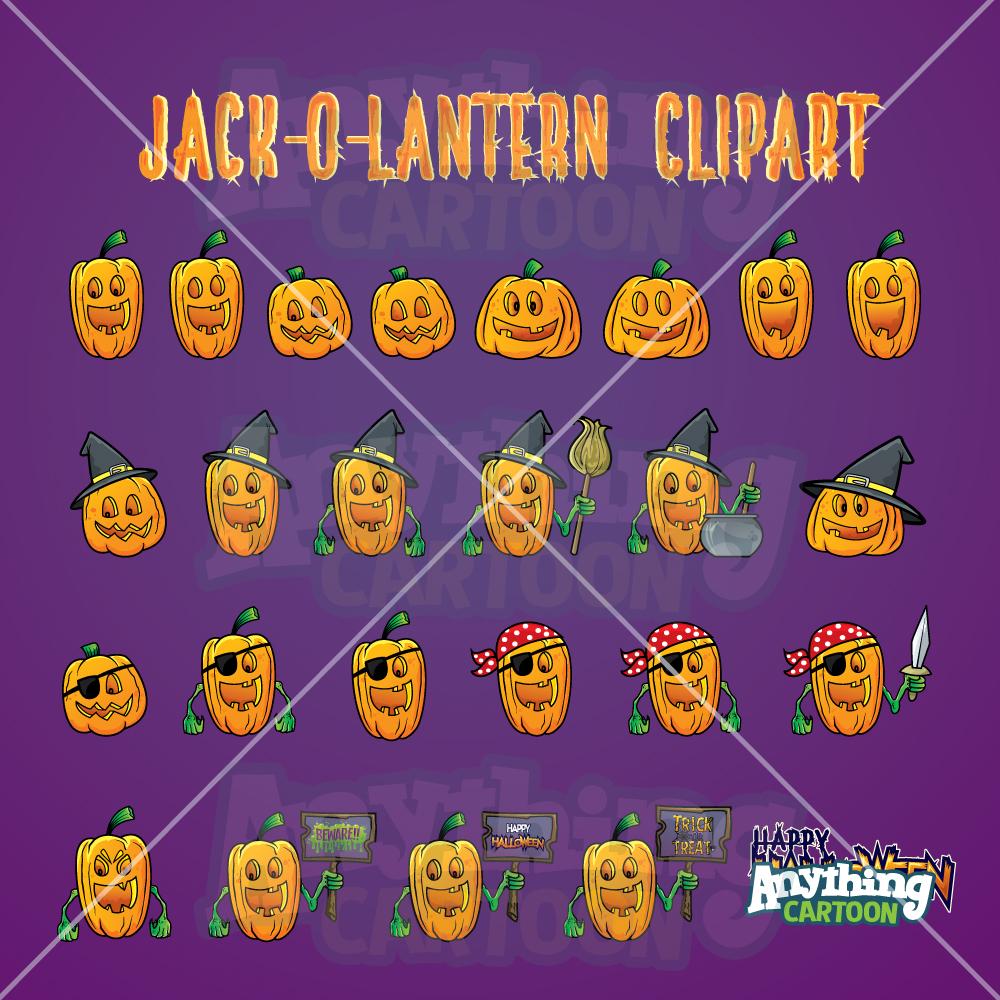 Cartoon Jack-O'-Lantern Clipart