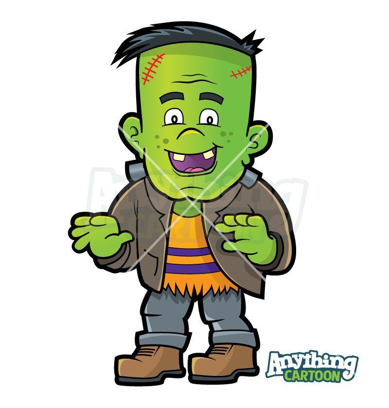 Cartoon Halloween Frankenstein Clipart