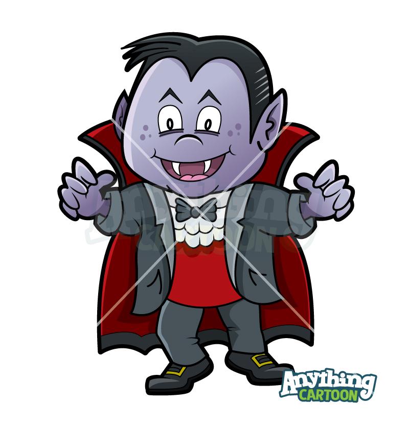 Cartoon Halloween Vampire Clipart