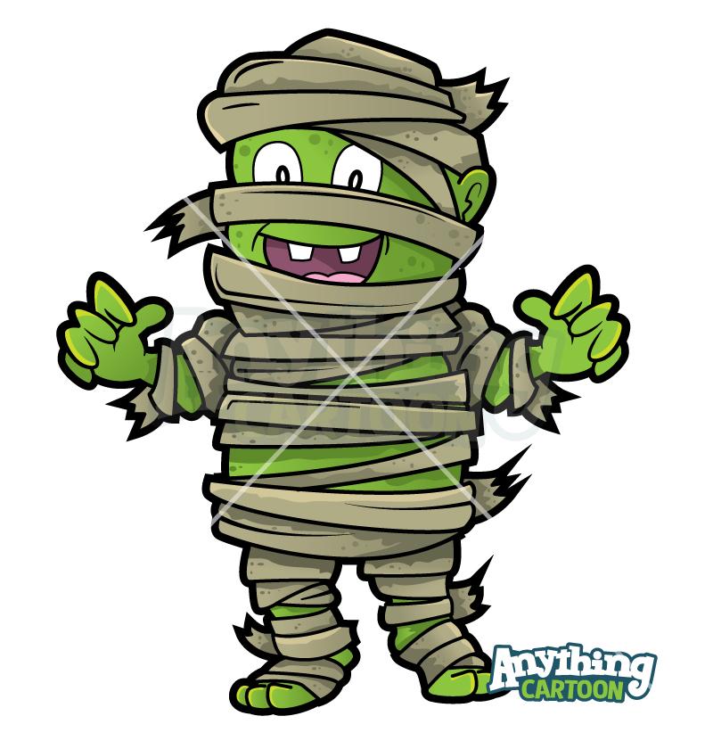 Cartoon Halloween Mummy Clipart
