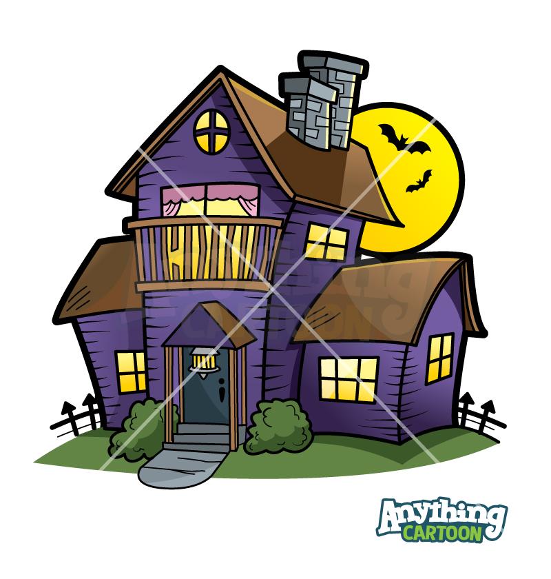 Cartoon Haunted House Clipart Halloween