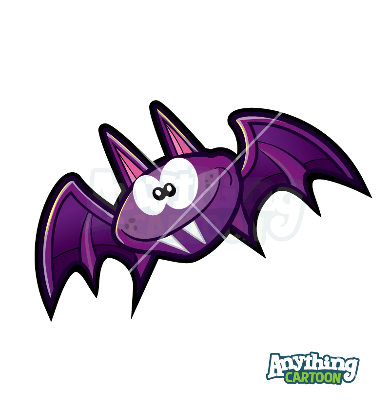 Cartoon Bat Clipart Halloween
