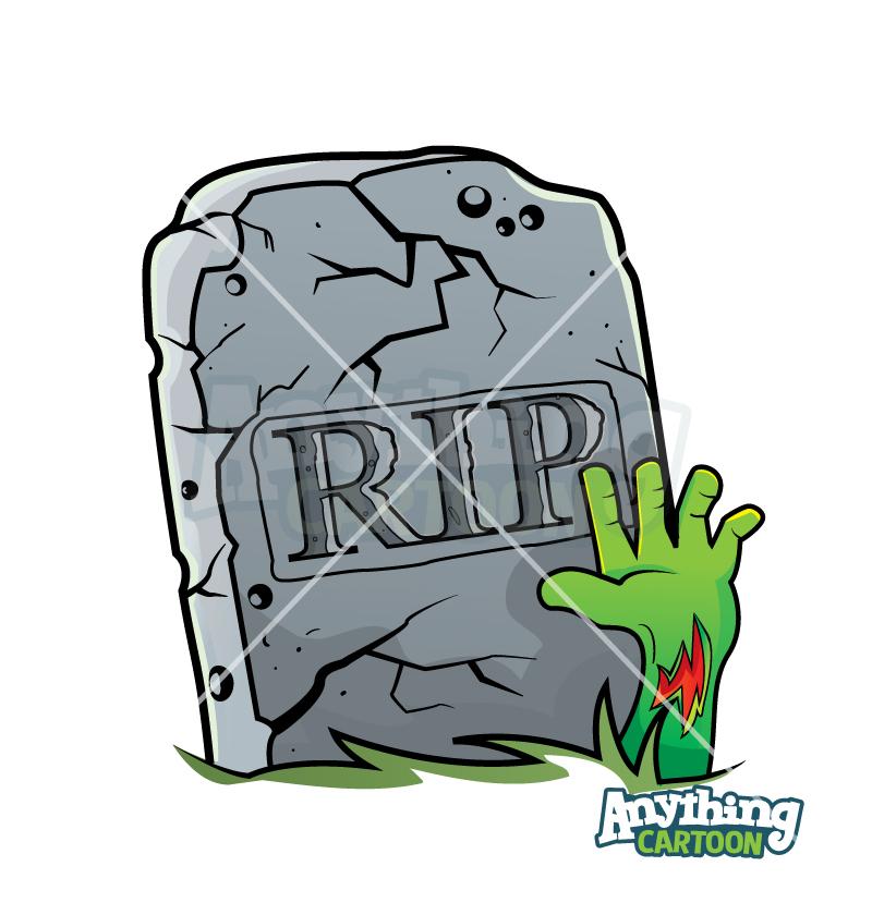 Cartoon Tombstone Clipart