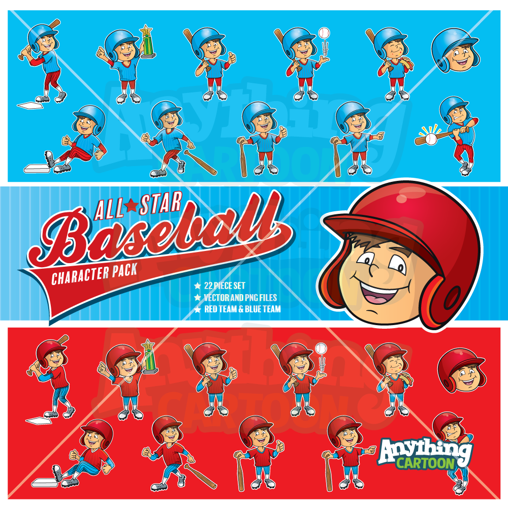 Cartoon Little League Baseball Clipart