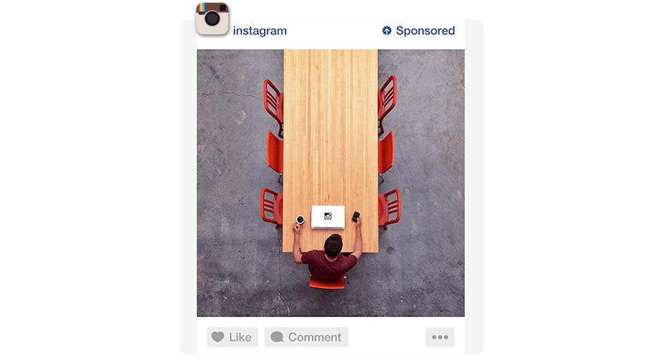 Example of a sponsored post on Instagram