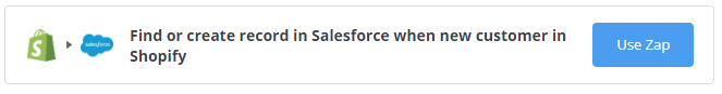 (Shopify to Salesforce Zapier integration)