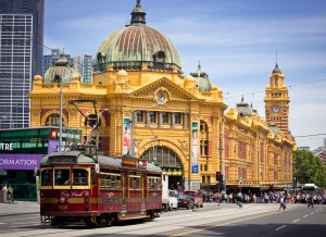 Iconic Flinders Street Station, in Melbourne, is used by more than 100,000 people daily.