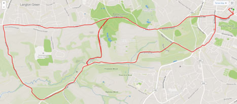 Beginner cycle route Tunbridge Wells