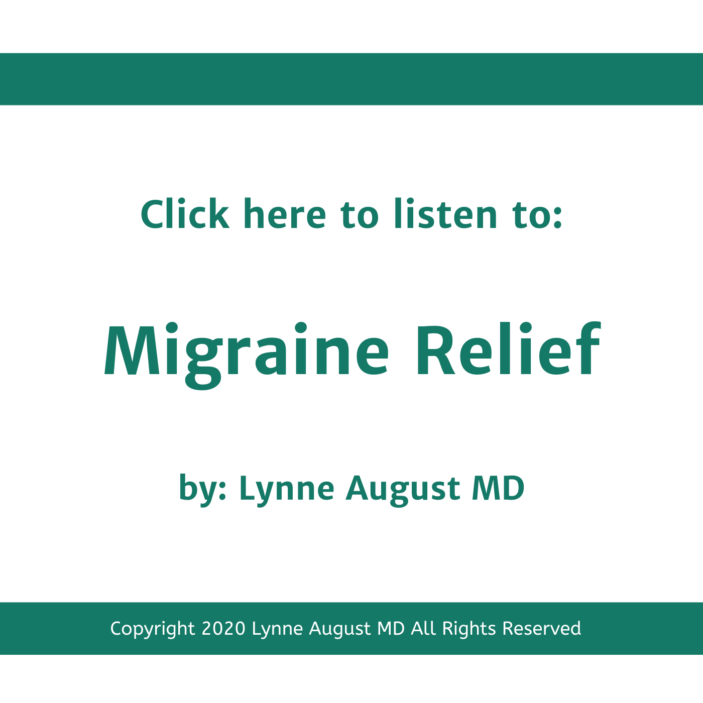 Podcast title image for Migraine Relief by Lynne August