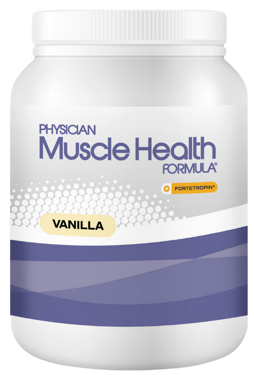 A container of Physician Muscle Health Formula