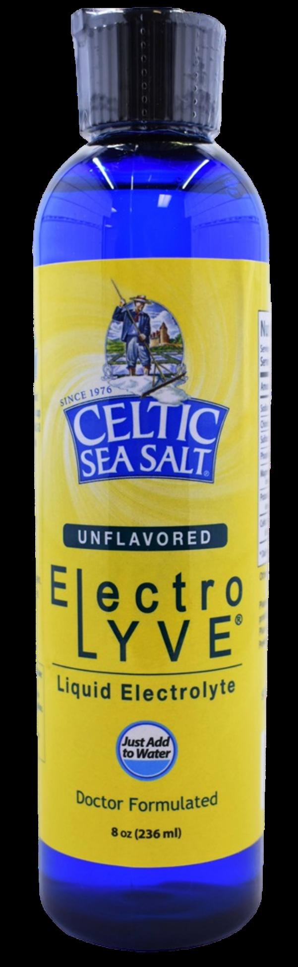 Bottle of Celtic Sea Salt Electrolyve Liquid 8 oz bottle