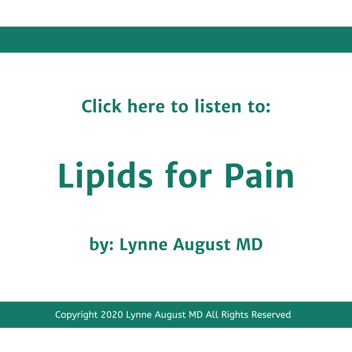 Podcast title image for Lipids for Pain by Lynne August