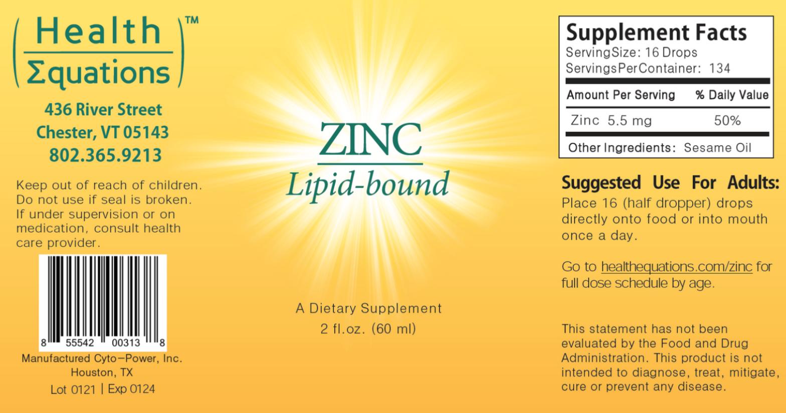 Lipid-bound Zinc Label