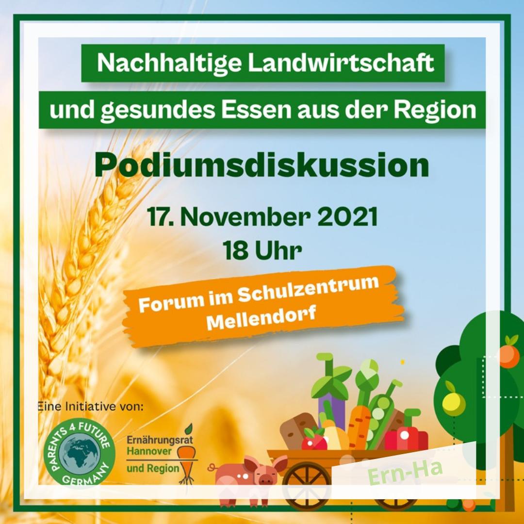 Podiumsdiskussion zum Thema: Nachhaltige Landwirtschaft