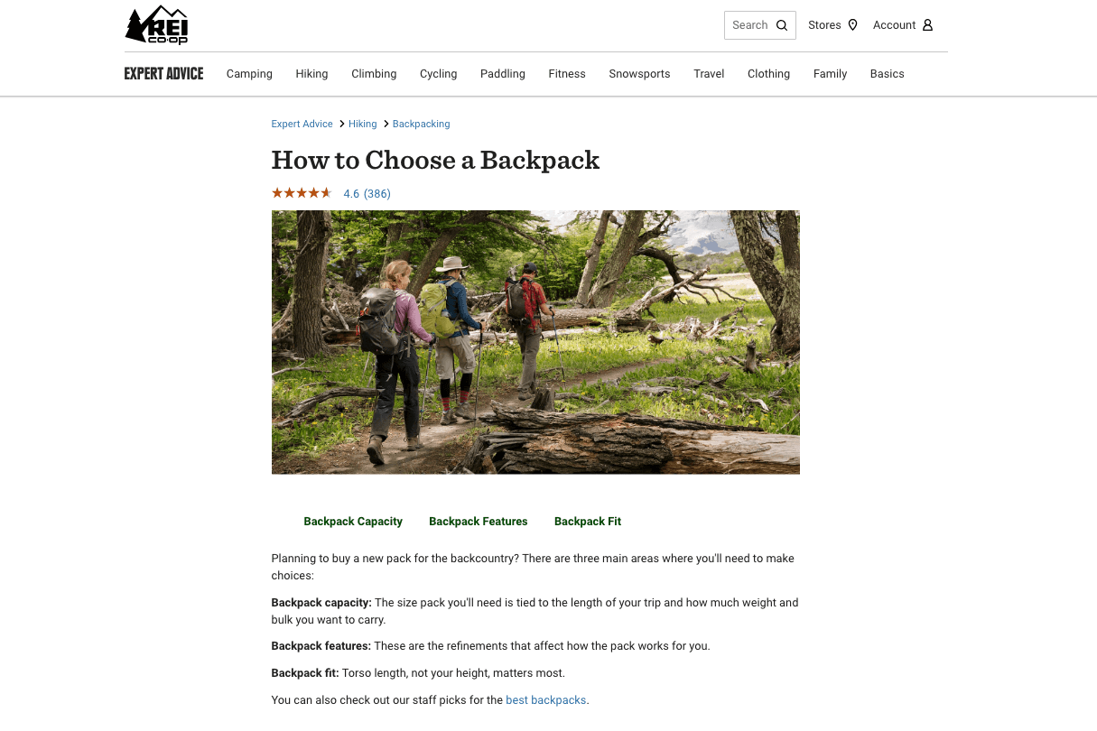 how to choose a back pack image