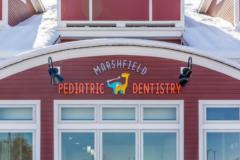 Front doors of Marshfield Pediatric Dentistry