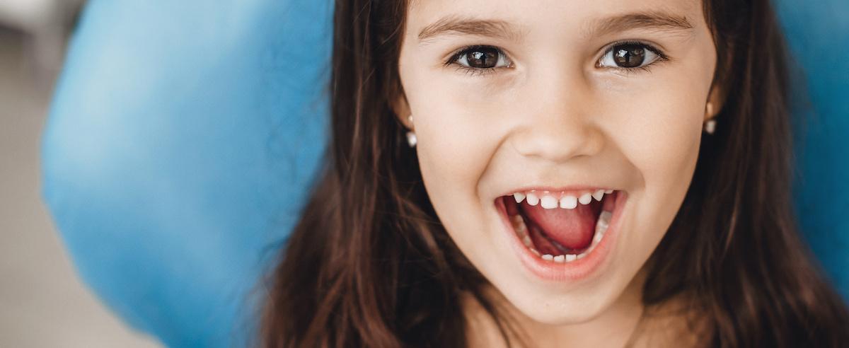 Child after a dental filling