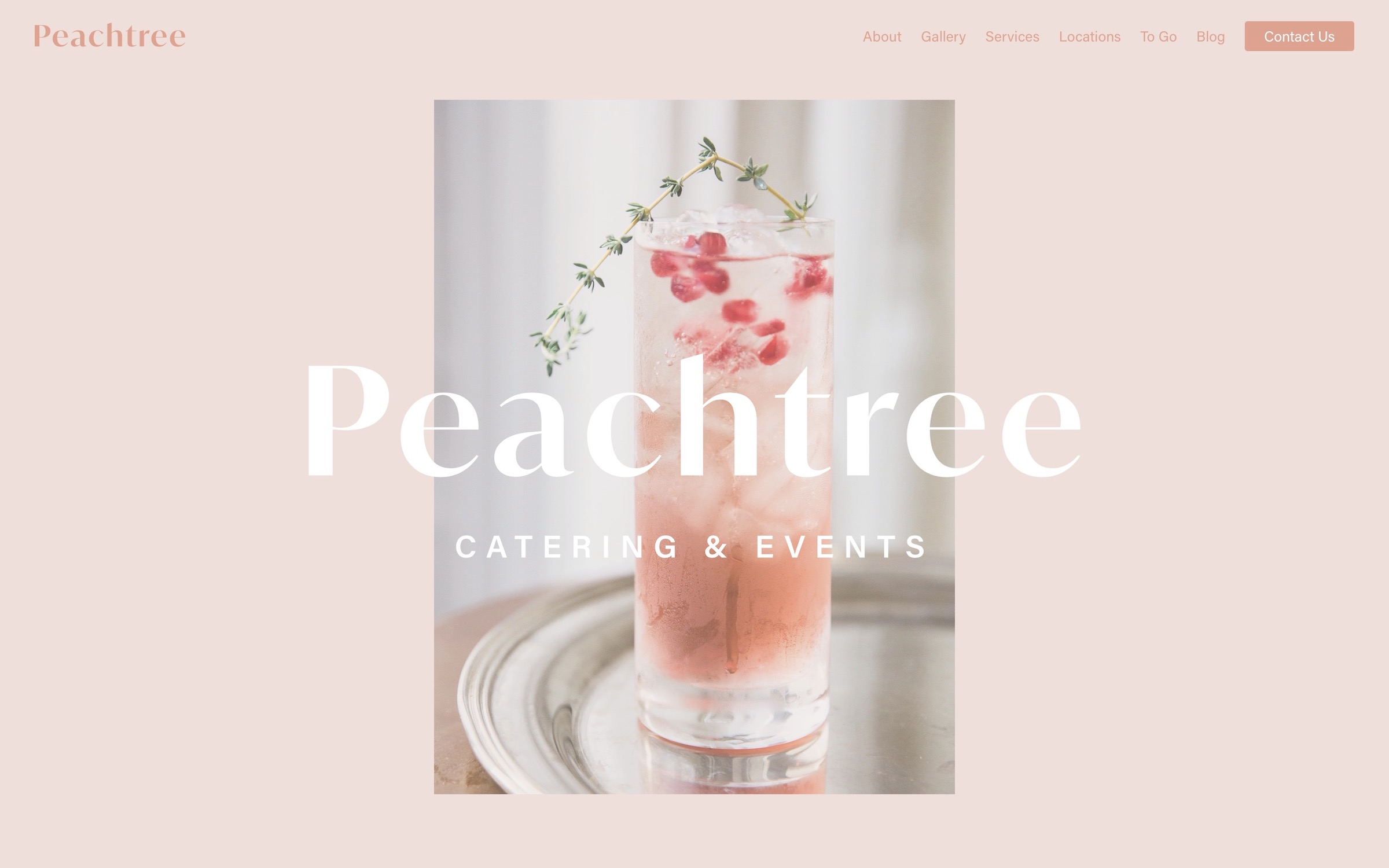 A screenshot of the Peachtree website homepage.