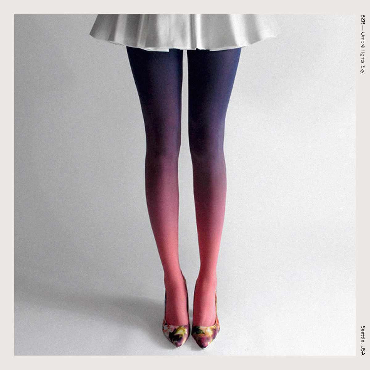 BZR — Ombré Tights (Sky)