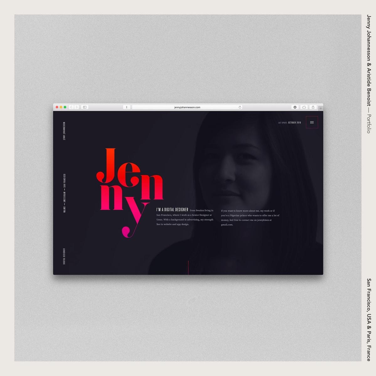 Jenny Johannesson & Aristide Benoist —Portfolio