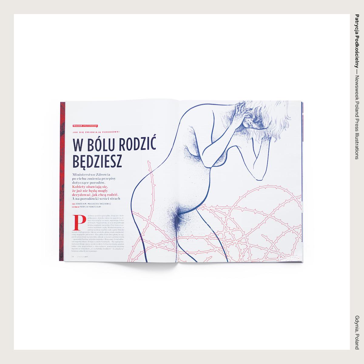 Patrycja Podkościelny — Newsweek Poland Press Illustrations