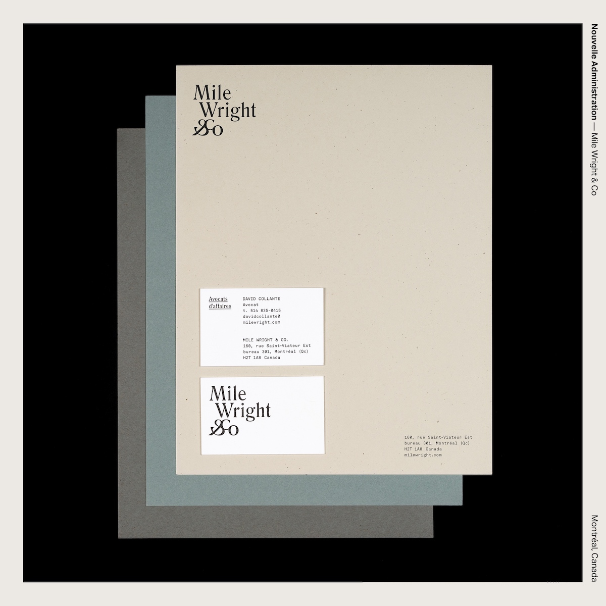 Nouvelle Administration — Mile Wright & Co
