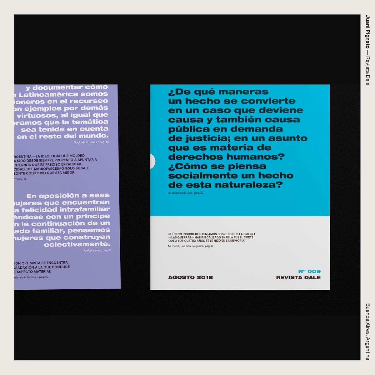 Juani Pignato — Revista Dale