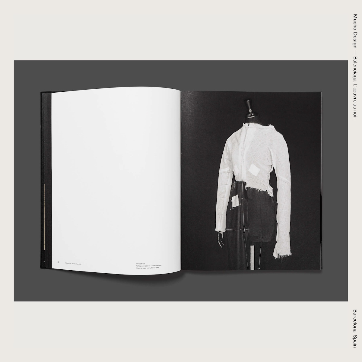 Mucho Design — Balenciaga, L'œuvre au noir