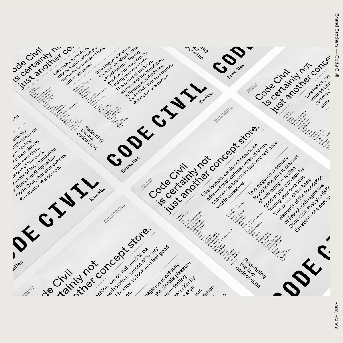 Brand Brothers — Code Civil