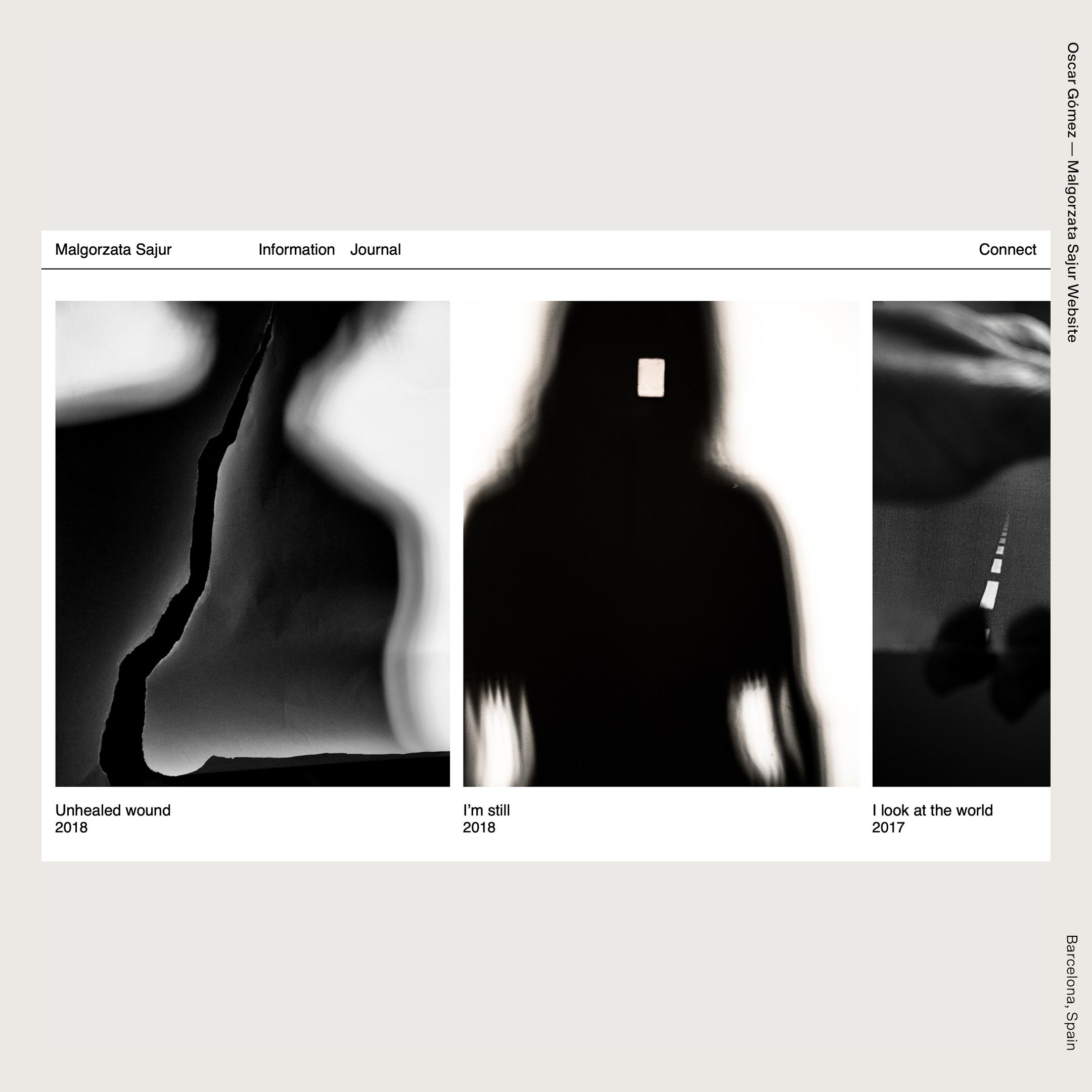 Oscar Gómez — Malgorzata Sajur Website