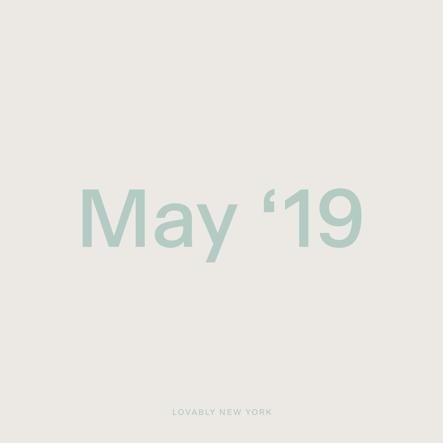 May '19