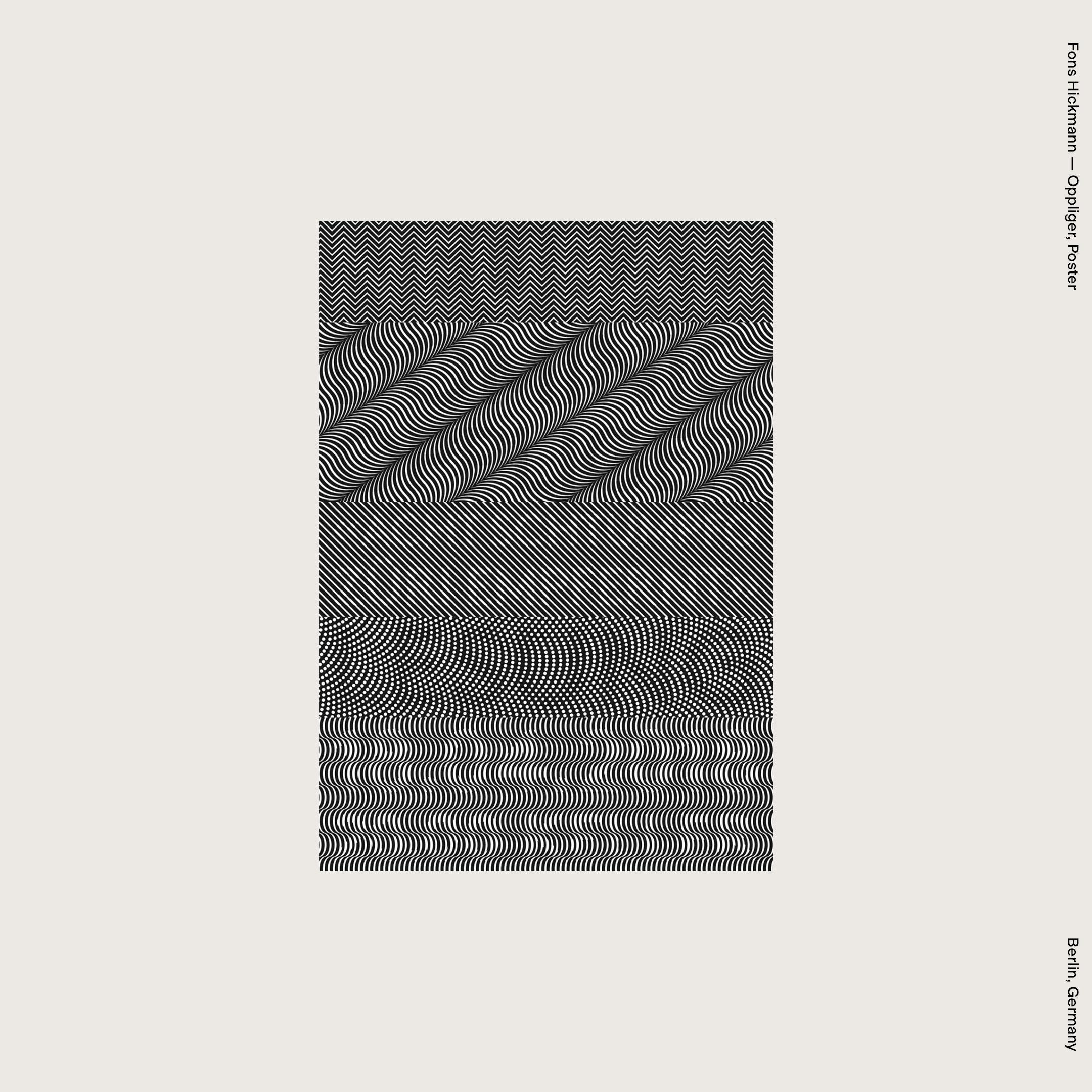 Fons Hickmann — Oppliger, Poster