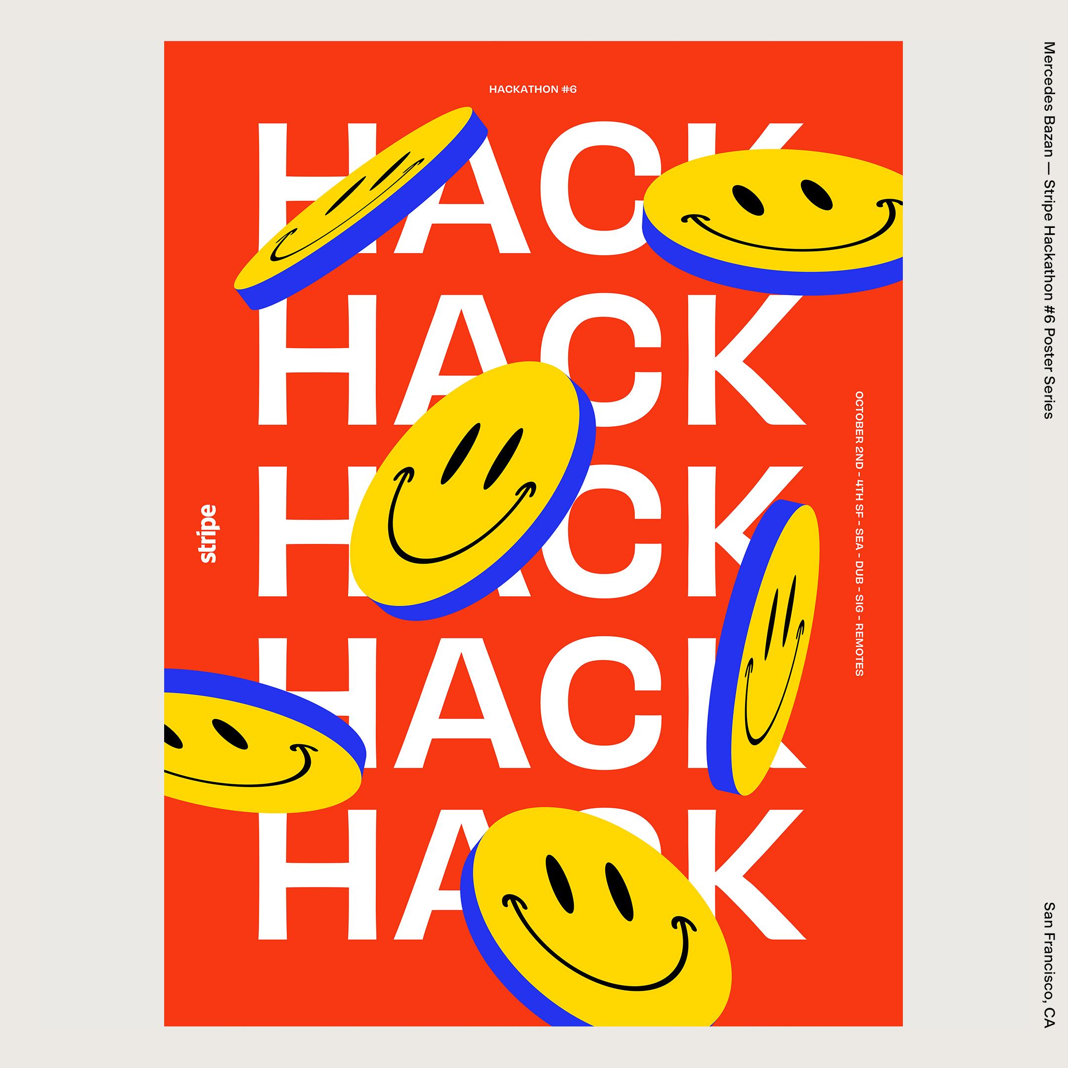 Mercedes Bazan — Stripe Hackathon #6 Poster Series